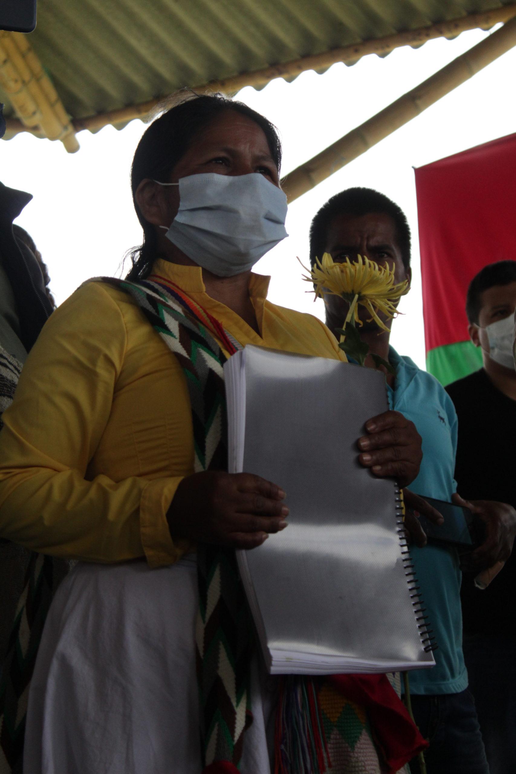 Entrega del informe de la Masacre del Naya al Sistema Integral de Verdad, Justicia, Reparación y No Repetición. Kite Kiwe (Cauca).